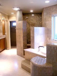 Walk In Shower No Door Design Ideas, Pictures, Remodel, and Decor