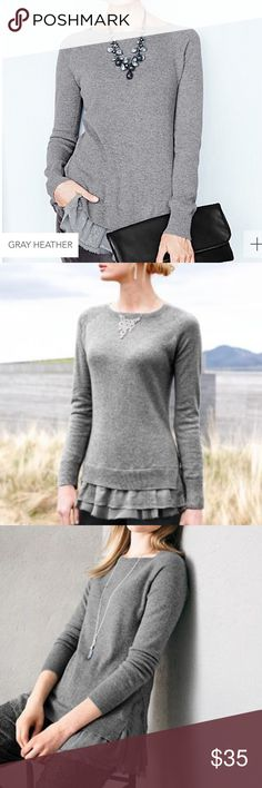 cashmere sweater tunic from garnet hill gray heather cashmere tunic.  so soft, warm, and beautiful! Garnet Hill Sweaters