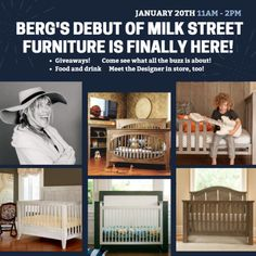 Join Milk Street Baby and Me at Berg's Baby & Teen Furniture this Saturday! | always alicia | aliciamhansen.com
