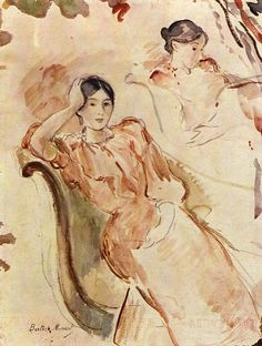 Berthe Morisot:  Portrait studies of Jeanne Pontillon by petrus.agricola, via Flickr