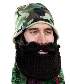 5fad2061c35 Beard Head Camo   Black Classic Duke Beard Head Beanie