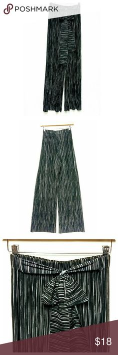 Ashley Blue Black and White Palazzo Crinkle Pants New with tags. Ashley Blue Pants