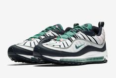 Nike Air Max 98 South Beach Platinum Obsidian-Kinetic Green Size 10.5 New  Men s 671188418