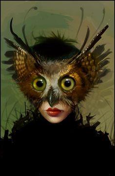 Linda Bergkvist Sweden: owl face mask