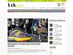 Maquetació del blog de Leksport amb  wordpress per adequar-se al disseny de Leksport.com Outlet, Shopping, Key Tags