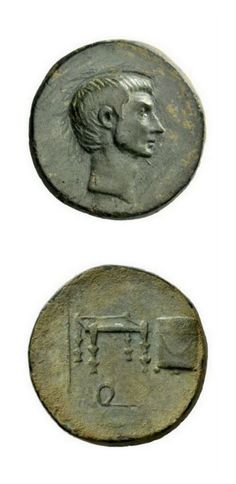A Roman Provincial Bronze Denomination of Octavian, Struck at an Uncertain Mint in Cilicia, an Unusual Composition Octavian, 32 – 27. | Ancient Art
