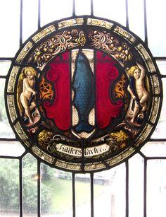 German heraldic window - Heidelberg, Germany