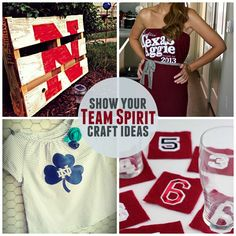 11 DIY Clothing and Decor Projects To Show Your Football Team Spirit! #football #upcycled #home decor #teamspirit