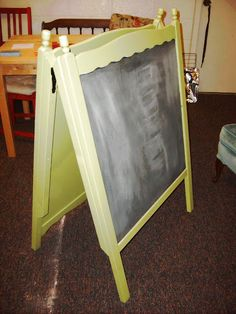 Upcycled Baby Cribs recycling ideas for recalled and old cribs chalk board easel