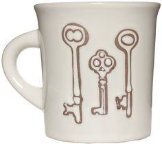 CUPPA THIS VINTAGE KEYS COFFEE MUG A cuppa this, a cuppa that. Fill this lovely cuppa with anything you please! Bring a little vintage to your morning routine with a coffee mug featuring a trio of vintage keys. $7.00 #coffeemug