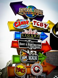 Orlando, Florida Florida Honeymoon, Florida Travel, Travel Usa, Orlando Florida, Orlando Studios, Usa Facts, Universal Orlando, Universal City, Park Signage