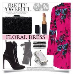 """Floral Dress"" by mistressofdarkness ❤ liked on Polyvore featuring McQ by Alexander McQueen, Giuseppe Zanotti, Marc Jacobs, Effy Jewelry, Tadashi Shoji and Allurez"