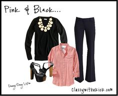 Pink and Black - Work Outfit