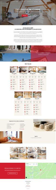 Site one-page pour les Salles du Campe à la Vallée de Joux. Camper, Website Web, Site Internet, Web Design, Truck Camper, Campers, Motorhome, Camper Trailers, Website Designs