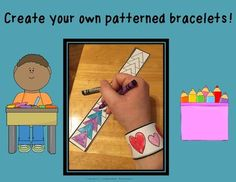This is a great product for students to practice their pattern skills. They can color these bracelets and make their own patterns.This product includes 3 bracelets!