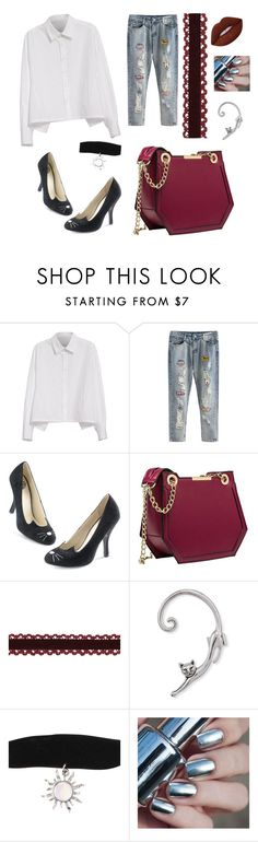 """""""Blind fold #9"""" by jpc51105 ❤ liked on Polyvore featuring Y's by Yohji Yamamoto and Lime Crime"""