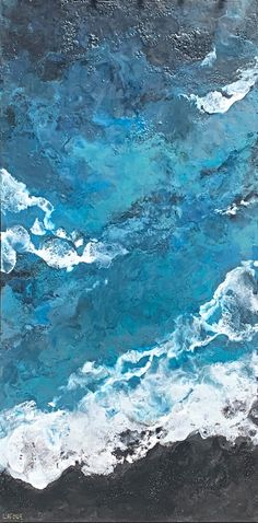 The Power of the Sea, encaustic seascape painting by Lee Anne LaForge | Effusion Art Gallery + Cast Glass Studio, Invermere BC Bear Paintings, Cute Paintings, Seascape Paintings, Landscape Paintings, Cast Glass, Canadian Artists, Painted Doors, Winter Landscape, Art Gallery