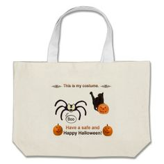 Funny Halloween Costume Tote Bag!  This bag is fully customizable to meet your needs with a variety of styles, graphics and colors!