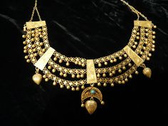 antique kurdish 21k gold necklace--this is the kind of gold you make thousands off of today!