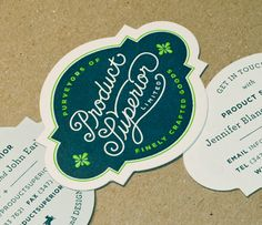 Die cut business cards by: Product Superior