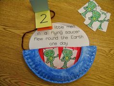 """Fun project to go along with the song and book, """"Five Little Men in a Flying…"""