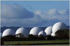 Known for its connection with Echelon spy network.  The  Menwith Hill spy base near Harrogate in North Yorkshire, England, is the largest electronic monitoring station in the world.  I has been the key link in worldwide eavesdropping network.