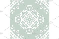 Oriental vector pattern with damask, arabesque and floral elements. Vector Pattern, Pattern Design, White Patterns, Damask Patterns, Vector Background, Arabesque, Classic White, Abstract Backgrounds, Oriental