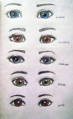 Eyes of female characters from all John green books ❤