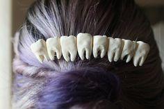 Teeth Hair Clip by WolfandHound on Etsy, $15.00
