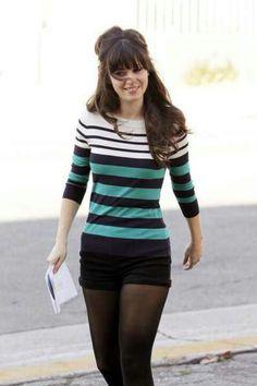 cute sweater, dressy shorts, tights, flats.