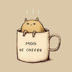 Mog of Coffee by Sophie Corrigan Illustration
