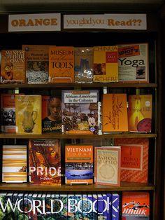 ORANGE you glad you read? - library displays based on color