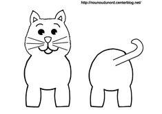 Coloriage chat pour rouleau de papier wc
