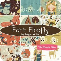 Fort Firefly Fat Quarter Bundle Teagan White for Birch Fabrics