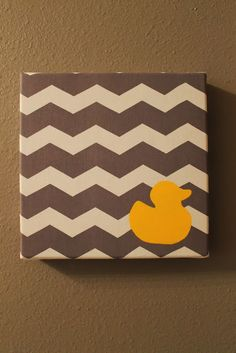 The Child at Heart Home: Orange, Yellow, and Grey Rubber Ducky Bathroom