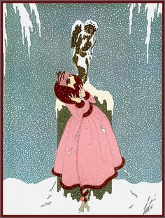 Erté - Harper's Bazaar, December 1918 'The End of Romance' by Plum leaves, via Flickr (check out this flickr!!!)