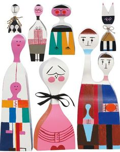 Alexander Girard wooden dolls. We bought  one recently!