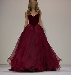 Sexy Prom Dress, Sleeveless Prom Dresses,Burgundy Tulle Evening Dress,Floor Length Formal Gown by fancygirldress, $150.00 USD