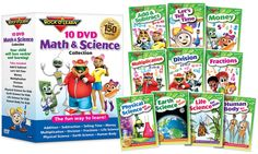 6-10yrs old.  Rock 'N Learn Math & Science 10-DVD Collection | Groupon