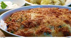 Květák rozebereme na růžičky a v osolené vodě povaříme 5-7 min., aby lehce změkl (ale nebyl rozvařený). Zapékací mísu vytřeme olejem, vložíme... Japchae, Macaroni And Cheese, Chicken, Meat, Ethnic Recipes, Food, Mac And Cheese, Essen, Meals