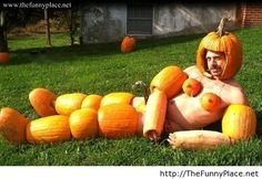Halloween funny costume with pumpkins - Funny Pictures, Awesome Pictures, Funny Images and Pics