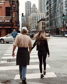 Look both ways & always hold hands when crossing the street