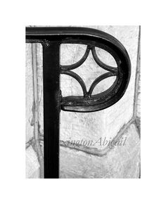 Alphabet Letter Photography Photo Art P Black And White Color Or Sepia Unframed
