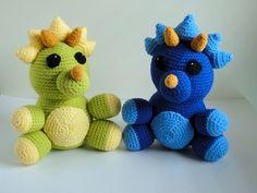Dinosaur twins! amigurumi