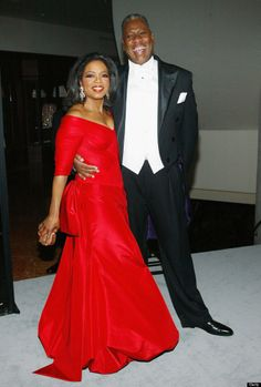 Oprah  - famous red dress worn at her Legends Ball in 2005.