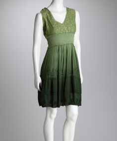 Olive Fade-Out Dress | zulily