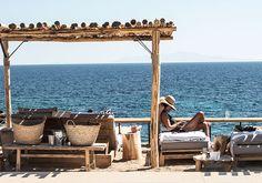 scorpios, beach bar, paraga, mykonos