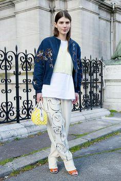 Street Style: Парижская неделя Моды (трафик!) / Street Style /