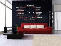 vinilo decorativo para reloj de pared con nombre de peliculas