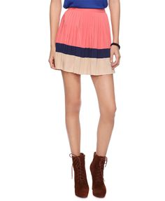 Colorblocked Mini Skirt | FOREVER21 - 2000036418